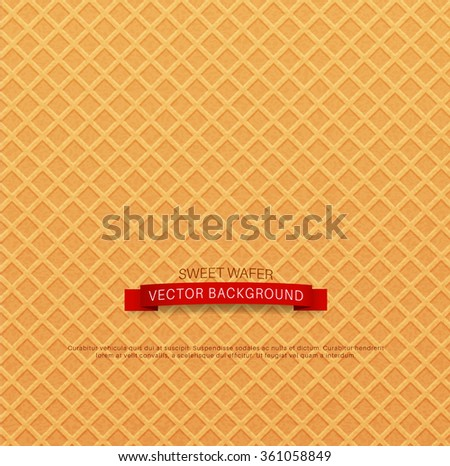 vector background (texture wafer) - stock vector