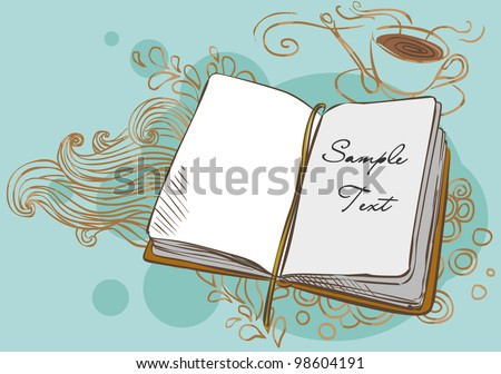 Vector background with a book