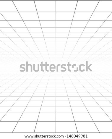 Vector background with a perspective grid. - stock vector