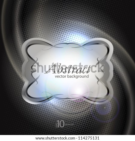 vector background with a vintage glossy and opaque texture - stock vector