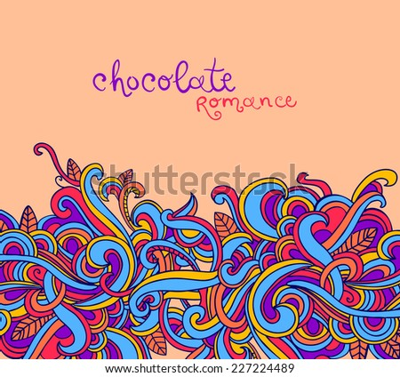 Vector background with abstract curls. Modern pattern. Vector backdrop. Bright pattern.Use for wallpaper,pattern fills, web page background  - stock vector