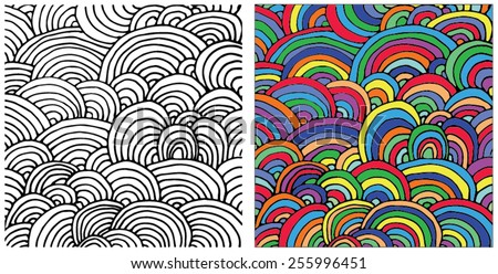 vector background with abstract pattern - stock vector