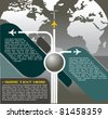 Vector Background With Aircraft in the World - stock