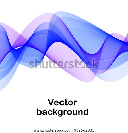 Vector background with blue and purple waves