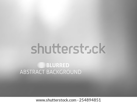 vector background with blurred objects, abstraction in gray color - stock vector
