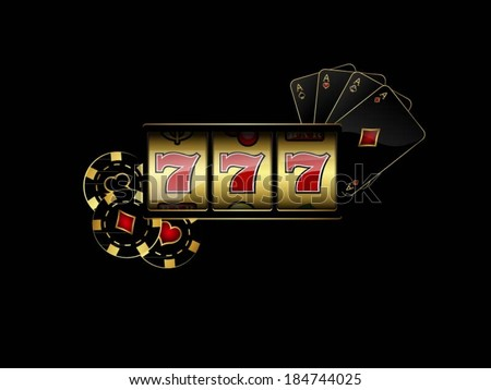 Vector background with casino design elements - stock vector
