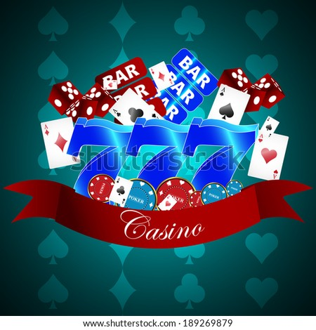 Vector background with casino gaming elements/design for the using of printing, publishing or poster with place for your content  - stock vector