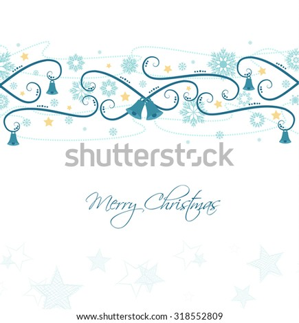 Vector background with Christmas ornaments, Christmas card - stock vector