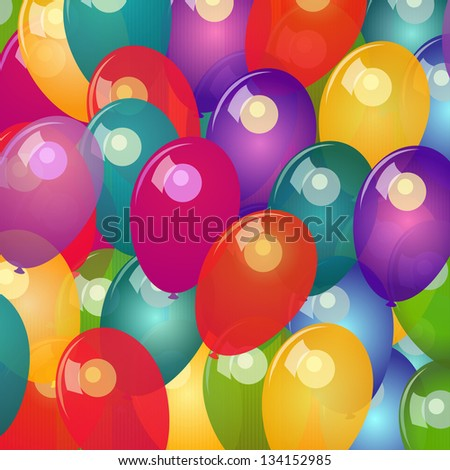 Vector background with colorful balloons - stock vector