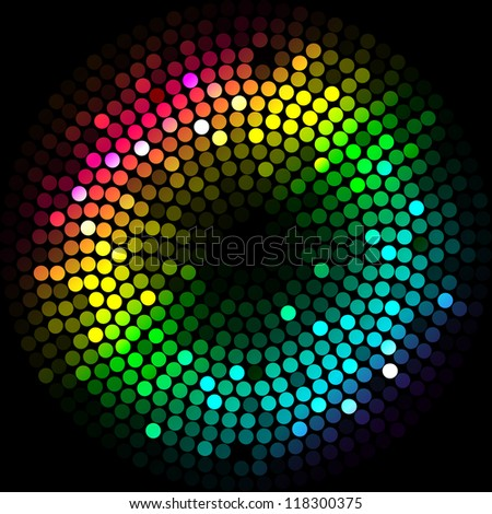 Vector background with colorful lights - stock vector