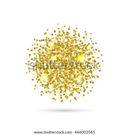 Vector background with confetti. Gold confetti on white background. EPS 10.