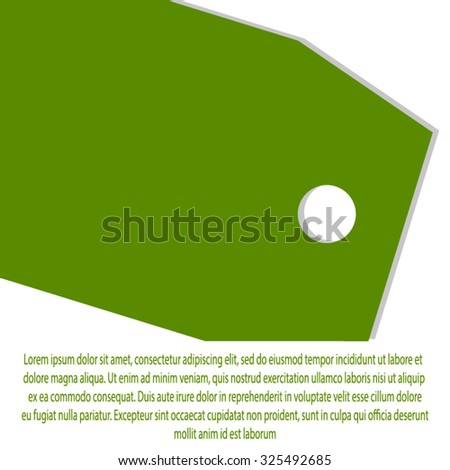 Vector background with elements of the tag. Discounts, sales, purchase.