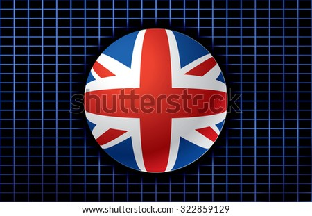 Vector background with flag of United Kingdom. - stock vector