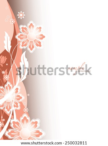 Vector Background with Flowers. Abstract Design. - stock vector