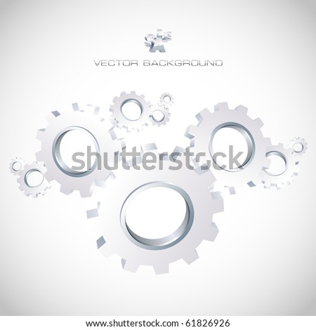 Vector background with gears. Abstract illustration. - stock vector