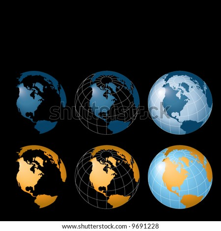 Vector background with globes