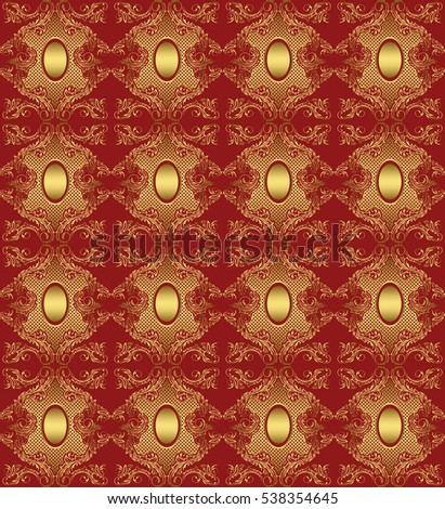Vector background with gold pattern. For design work. For registration pages.