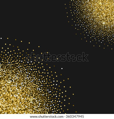 Vector background with gold texture, glitter, sparkles, made for invitation, wedding, greeting card, web template, layout, logo etc