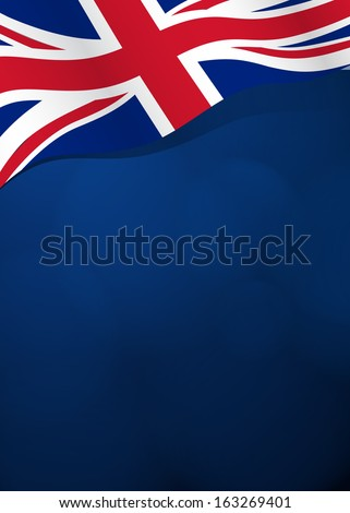 Vector background with Great Britain flag in vector - stock vector