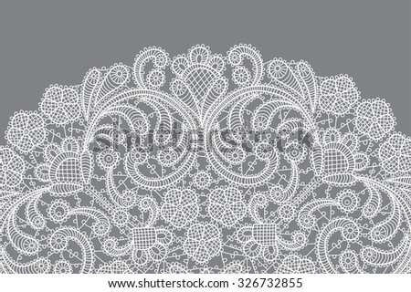 vector background with lace ornament - stock vector