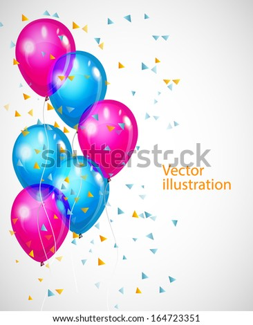 Vector background with multicolored balloons