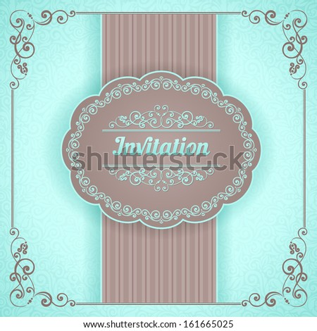 Vector background with ornamental floral elements. Vintage pattern for invitation or greeting card,