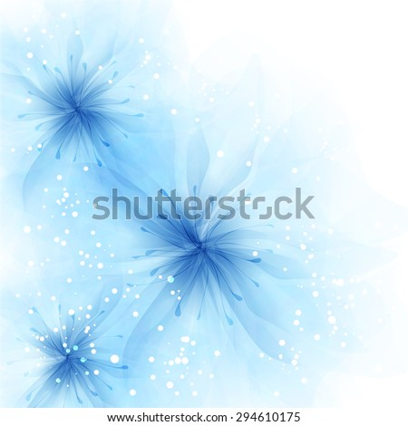 Vector background with pastel flowers. EPS 10. Contains transparent objects.