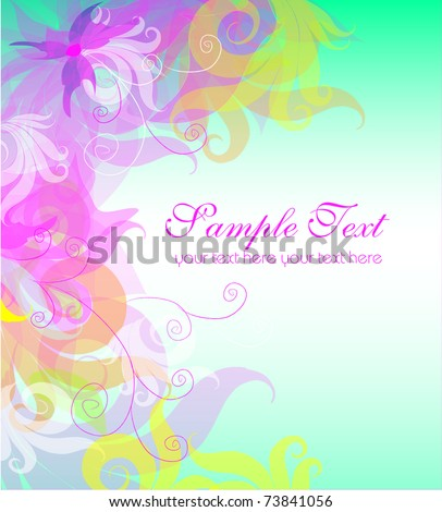 Vector background with place for toyr text