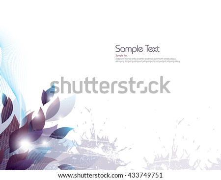 Vector Background with Purple Leaves. - stock vector