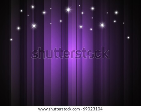 Vector background with purple stripe and stars