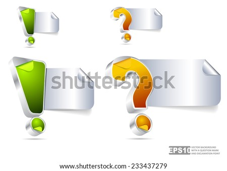 Vector background with question mark and exclamation point for text content - stock vector