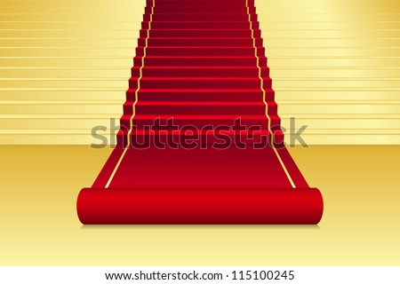 Vector background with red Carpet - stock vector