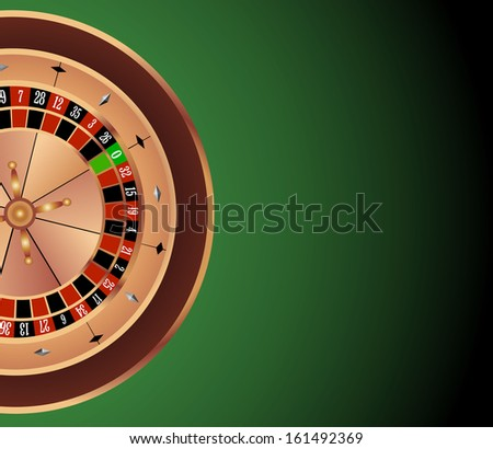 Vector background with roulette Wheel
