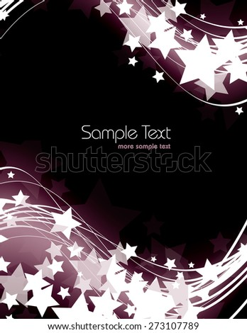 Vector Background with Shiny Stars. - stock vector