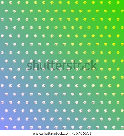 Vector background with skull - stock vector