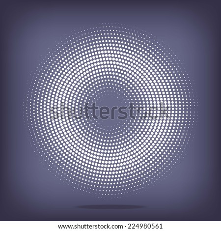vector background with space for Your text. white circle of halftone - stock vector