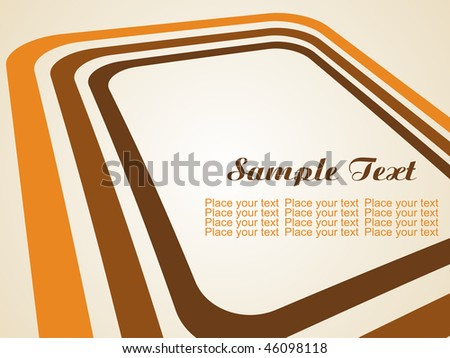 vector background with stripes and space for text - stock vector