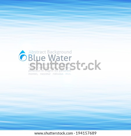 vector background with water surface and drop icon - stock vector