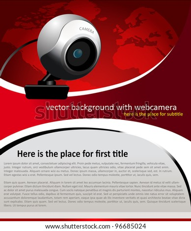 vector background with web camera for text - stock vector