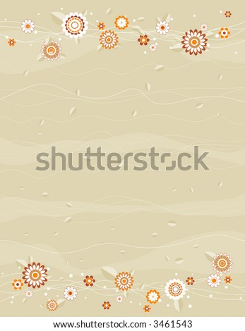 Vector background with white and  flowers - stock vector