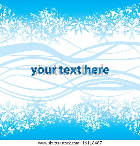 Vector background with winter theme. Add your own logo or text - stock vector