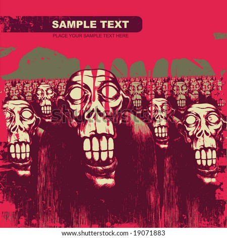 vector background with zombies. for CD cover