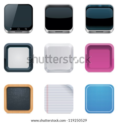 Vector backgrounds for square icons - stock vector