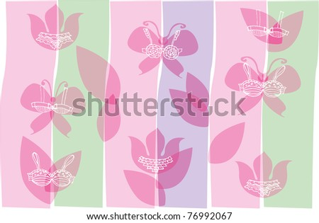Vector Backgrounds. Theme - lingerie - stock vector
