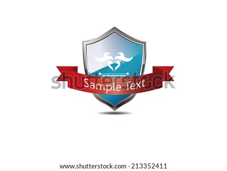 Vector badge, the file format for EPS10.0 fully editable. - stock vector