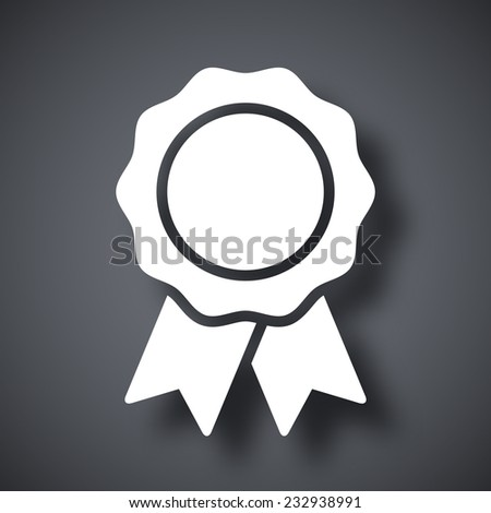 Vector badge with ribbons icon - stock vector