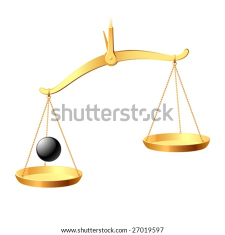 Vector balance. You may easy accent it equilibrium. - stock vector