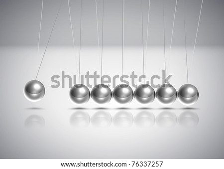 Vector Balancing Balls Newton's Cradle - stock vector