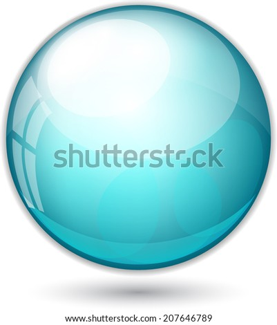 Vector ball illustration - stock vector