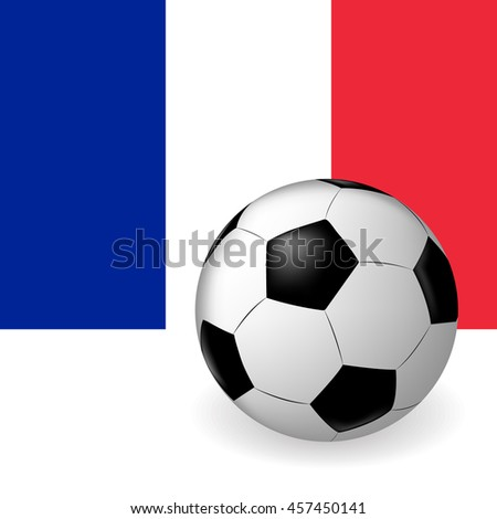 Vector ball on background of the flag of France